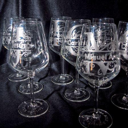 Cuadro para la categoría Copas de vino con nombre